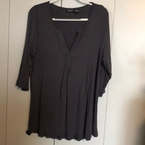 Long sleeve plus size top.